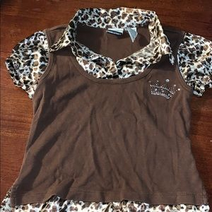 Route 66 leopard print girls shirt